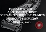 Image of Donald Nelson Detroit Michigan USA, 1942, second 5 stock footage video 65675031348