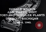 Image of Donald Nelson Detroit Michigan USA, 1942, second 7 stock footage video 65675031348