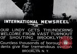 Image of Charles Lindbergh Brooklyn New York City USA, 1927, second 2 stock footage video 65675031419