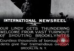 Image of Charles Lindbergh Brooklyn New York City USA, 1927, second 4 stock footage video 65675031419