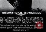 Image of Charles Lindbergh Brooklyn New York City USA, 1927, second 8 stock footage video 65675031419