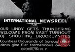 Image of Charles Lindbergh Brooklyn New York City USA, 1927, second 9 stock footage video 65675031419