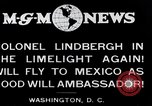 Image of Charles Lindbergh readies for Mexico trip Washington DC USA, 1927, second 1 stock footage video 65675031422