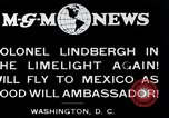 Image of Charles Lindbergh readies for Mexico trip Washington DC USA, 1927, second 7 stock footage video 65675031422