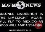 Image of Charles Lindbergh readies for Mexico trip Washington DC USA, 1927, second 9 stock footage video 65675031422