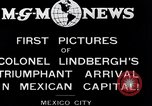 Image of Charles Lindbergh Mexico City Mexico, 1927, second 3 stock footage video 65675031423