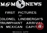 Image of Charles Lindbergh Mexico City Mexico, 1927, second 8 stock footage video 65675031423