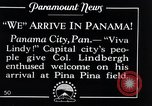 Image of Charles Lindbergh feted by President Rodolfo Chiari  Panama City Panama, 1928, second 10 stock footage video 65675031428