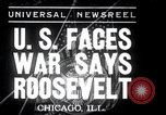 Image of Franklin Roosevelt addresses city of Chicago Chicago Illinois USA, 1937, second 1 stock footage video 65675031439
