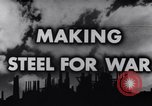 Image of making of steel United States USA, 1943, second 3 stock footage video 65675031503