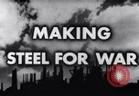 Image of making of steel United States USA, 1943, second 8 stock footage video 65675031503
