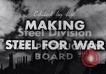 Image of making of steel United States USA, 1943, second 10 stock footage video 65675031503