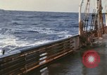 Image of Oceanic survey vessel in heavy seas Pacific ocean, 1963, second 2 stock footage video 65675031521