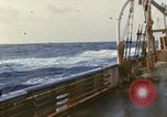 Image of Oceanic survey vessel in heavy seas Pacific ocean, 1963, second 12 stock footage video 65675031521