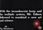 Image of incandescent lamp United States USA, 1923, second 4 stock footage video 65675031662