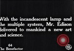 Image of incandescent lamp United States USA, 1923, second 6 stock footage video 65675031662