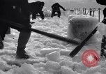 Image of Sailors chop ice from Japanese light cruiser Aleutians, 1942, second 6 stock footage video 65675031675