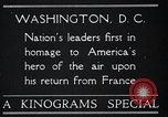Image of Captain Charles A Lindbergh Washington DC USA, 1928, second 3 stock footage video 65675031736