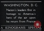 Image of Captain Charles A Lindbergh Washington DC USA, 1928, second 4 stock footage video 65675031736