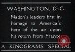 Image of Captain Charles A Lindbergh Washington DC USA, 1928, second 5 stock footage video 65675031736
