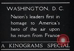 Image of Captain Charles A Lindbergh Washington DC USA, 1928, second 6 stock footage video 65675031736