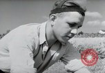 Image of German farmers harvesting oats Wiesbaden Germany, 1954, second 11 stock footage video 65675031781