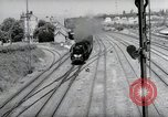 Image of German steam locomotive Wiesbaden Germany, 1954, second 6 stock footage video 65675031782