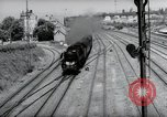 Image of German steam locomotive Wiesbaden Germany, 1954, second 7 stock footage video 65675031782