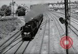 Image of German steam locomotive Wiesbaden Germany, 1954, second 8 stock footage video 65675031782