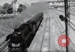 Image of German steam locomotive Wiesbaden Germany, 1954, second 9 stock footage video 65675031782