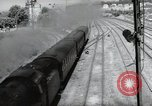 Image of German steam locomotive Wiesbaden Germany, 1954, second 10 stock footage video 65675031782