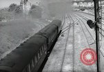 Image of German steam locomotive Wiesbaden Germany, 1954, second 11 stock footage video 65675031782