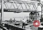 Image of construction of bridge Wiesbaden Germany, 1954, second 3 stock footage video 65675031784