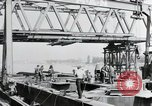Image of construction of bridge Wiesbaden Germany, 1954, second 4 stock footage video 65675031784