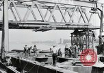 Image of construction of bridge Wiesbaden Germany, 1954, second 5 stock footage video 65675031784