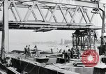 Image of construction of bridge Wiesbaden Germany, 1954, second 7 stock footage video 65675031784