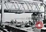 Image of construction of bridge Wiesbaden Germany, 1954, second 8 stock footage video 65675031784