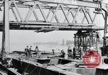 Image of construction of bridge Wiesbaden Germany, 1954, second 11 stock footage video 65675031784