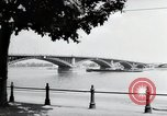 Image of bridge Mainz Germany, 1954, second 9 stock footage video 65675031786