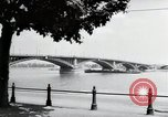 Image of bridge Mainz Germany, 1954, second 10 stock footage video 65675031786