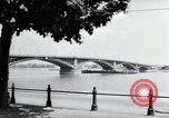 Image of bridge Mainz Germany, 1954, second 11 stock footage video 65675031786