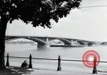 Image of bridge Mainz Germany, 1954, second 12 stock footage video 65675031786
