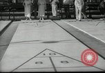 Image of shuffleboard Miami Florida USA, 1936, second 2 stock footage video 65675031884