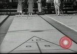 Image of shuffleboard Miami Florida USA, 1936, second 3 stock footage video 65675031884