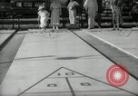 Image of shuffleboard Miami Florida USA, 1936, second 9 stock footage video 65675031884