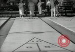 Image of shuffleboard Miami Florida USA, 1936, second 12 stock footage video 65675031884