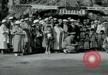 Image of tourists at Seminole Native American Indian trading post Miami Florida USA, 1936, second 12 stock footage video 65675031908
