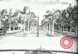 Image of car on a road Miami Florida USA, 1936, second 11 stock footage video 65675031913