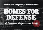 Image of Homes For Defense United States USA, 1941, second 7 stock footage video 65675031935