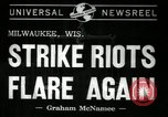Image of Strike Milwaukee Wisconsin USA, 1941, second 3 stock footage video 65675032020